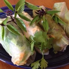 Thai Basil Peanut Fresh Rolls
