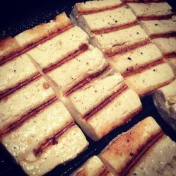 *grilled tofu