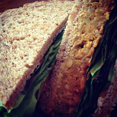 Chickpea Loaf Sandwich