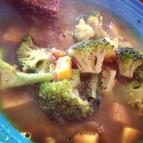 *vegetable lentil soup