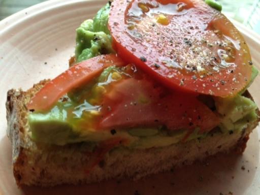 *avocado tomato toast
