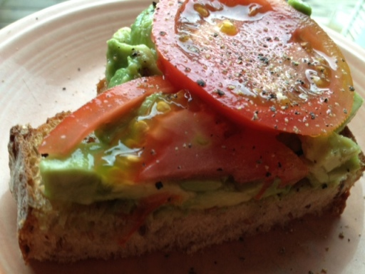 *avocado tomato toast