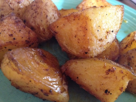 *roasted breakfast potatoes
