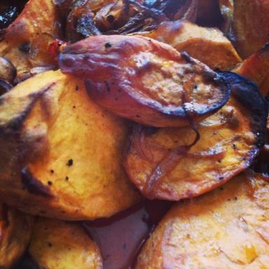 *roasted sweet potatoes