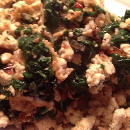 *tofu spinach scramble