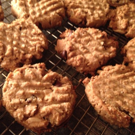 *gluten free peanut butter chocolate chip cookies