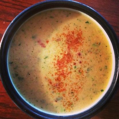 *cheddar cheesy broccoli soup
