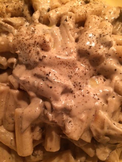 *Pasta con funghi alla crema