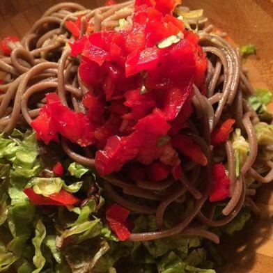 *buckwheat Zucchini noodle bowl salad