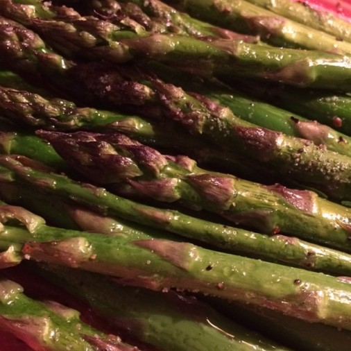 *roasted asparagus