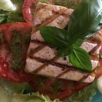 *grilled tofu: caprese salad