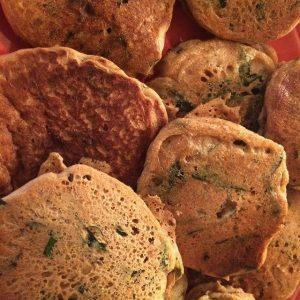 savory chickpea pancakes