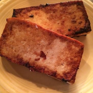 Pan seared Ginger Tofu