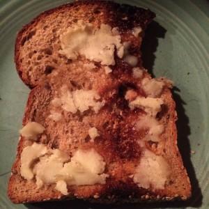 *vegan butter on toast