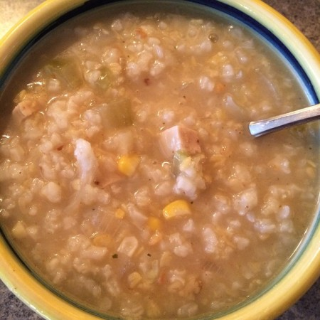 *White Girl Gingered Cabbage & Corn Congee
