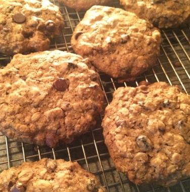 Gluten free cinnamon oatmeal raisin chocolate chip cookies 2015
